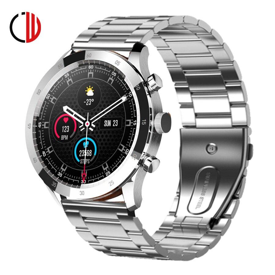 CZJW Smart Watch Men New Full Touch Screen Sport Fitness Tracker Smartwatch men IP67 Waterproof Build-in Game Android Ios Phone