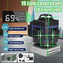 Niveau Laser 16 lignes 3D auto-nivelant 360 ligne horizontale et verticale de faisceau Laser vert