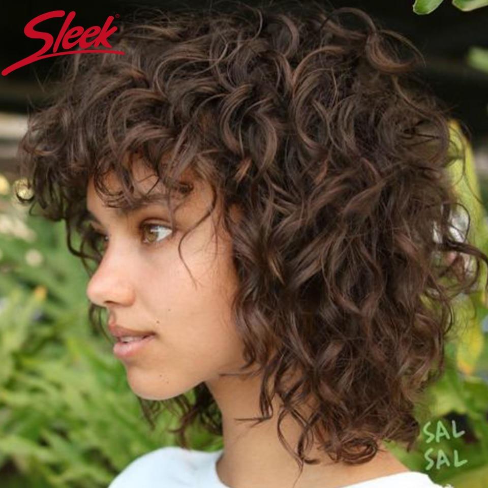 شعر مستعار برازيلي قصير ، شعر طبيعي ، أنيق ، مظلل اللون ، شعر مجعد ، شعر مستعار بوب مع هامش