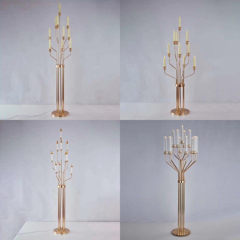 Металлические подсвечники, цветочные вазы, подсвечники, центральные части свадебного стола, подсвечники для столбов, декор Вечерние