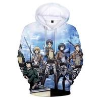 popular anime hoodies attack on titan 3d print hoodie men women long sleeve pullover hip hop harajuku hoodie unisex clothing
