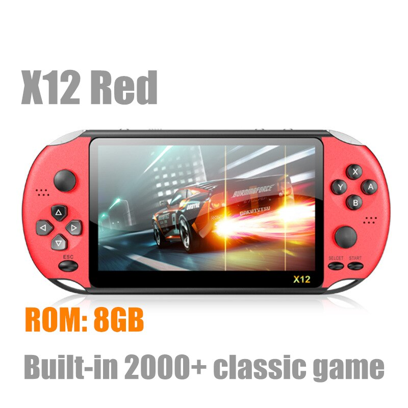 New X12 PLUS Retro Game Handheld Game Console Built-in 2000+Classic Games Portable Mini Video Player 5.1/7inch IPS Screen 8G+32G enlarge