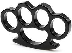Knucklesmassager auto-defesa anel de segurança fivela aports real metal aço knuckles massager