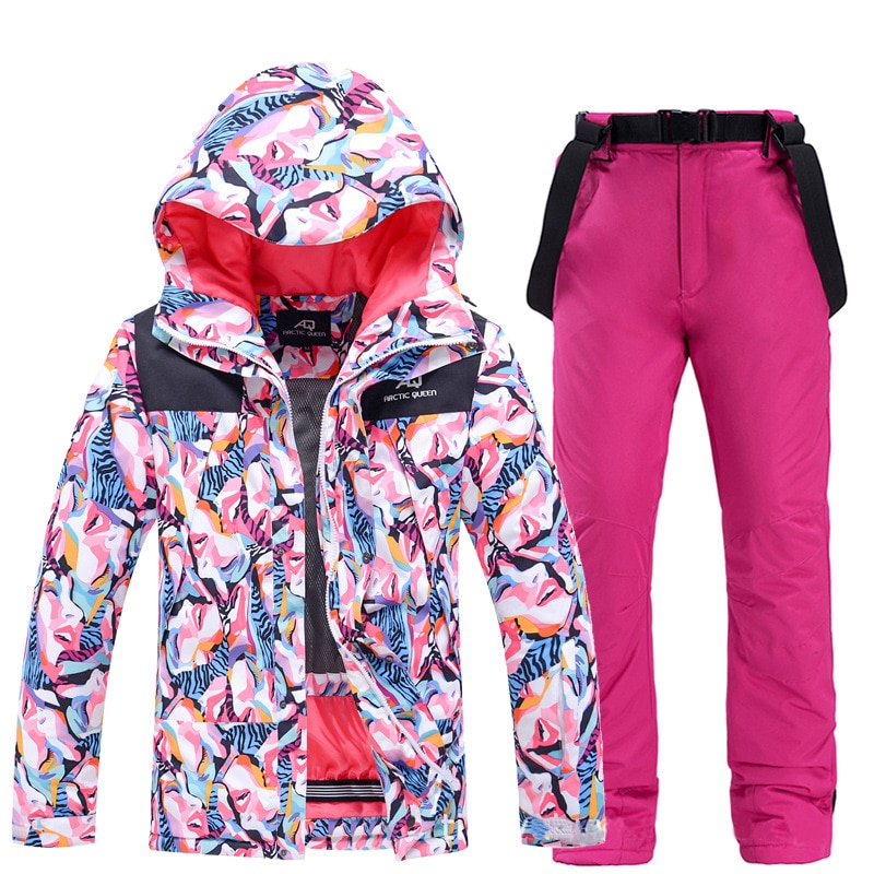 2021 Winter Thick Warm Ski Suit Women Waterproof Windproof Skiing And Snowboarding Jacket Pants Set Female Outdoor Snow Costumes winter thick warm ski suit women waterproof skiing and snowboarding jacket windproof pants set female snow costumes outdoor wear