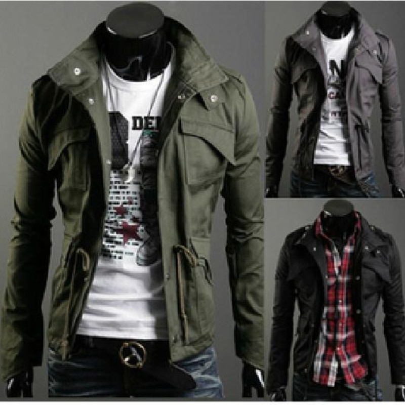 Модная мужская куртка с приталенным воротником, повседневные куртки, ветровка, мужская верхняя одежда, пальто, мужская одежда на осень