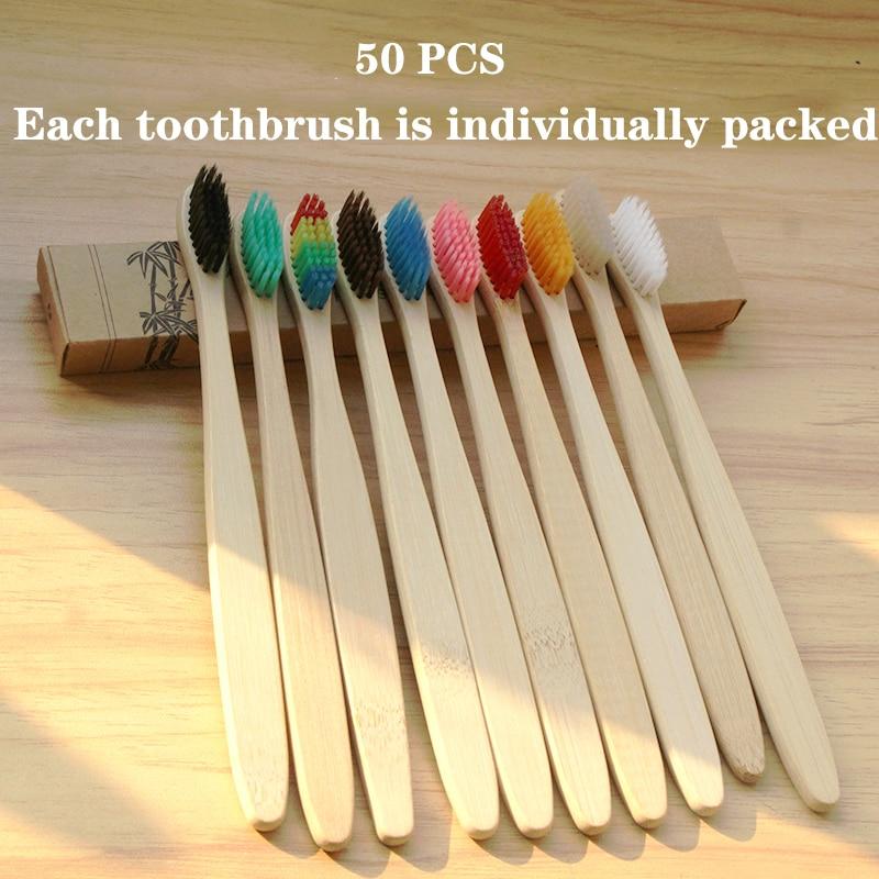 Отдепосылка ванные маленькие бамбуковые зубные щетки, 50/30/20 шт.