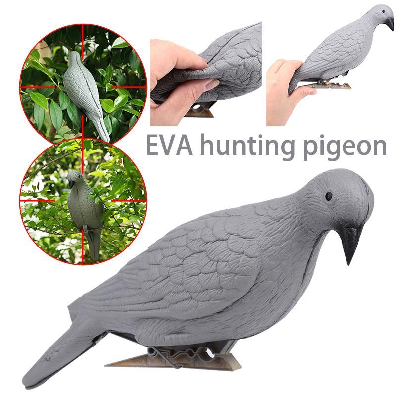 Caza patio falso señuelo para caza de aves espantapájaros Grey EVA objetivo trampa señuelo de Paloma a plagas realista Decoración
