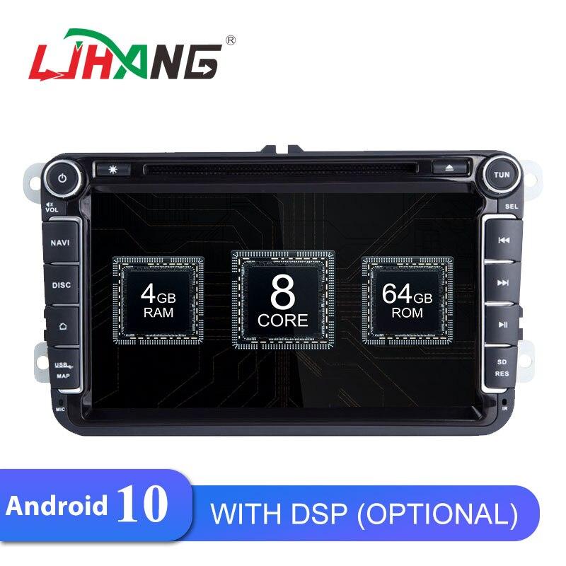 LJHANG 8 pulgadas reproductor de DVD del coche Android 10 para Volkswagen VW Passat B6 CC b7 Polo MK4 MK5 Golf 4 5 Tiguan Jetta bora GPS Navi Video