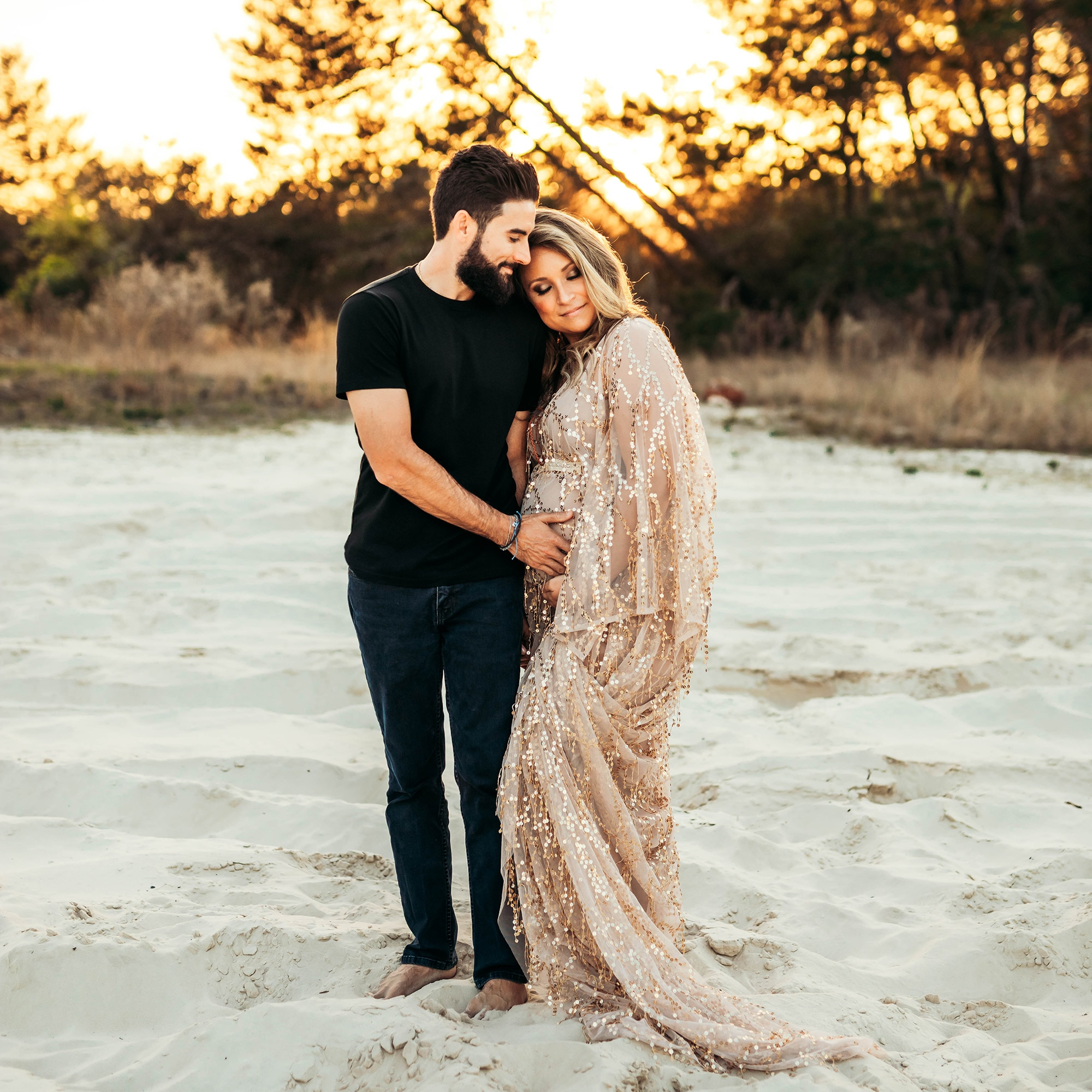 Don&Judy Golden Sequin Tassels Maternity Sequence Dress for Photo Shoot Christmas Boho Evening Gown Shooting Prom Dresses 2020 enlarge