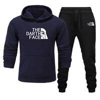 Camisola popular de 2021 novos homens com duas calcas de treino a correr S-3xl Sweatshirt