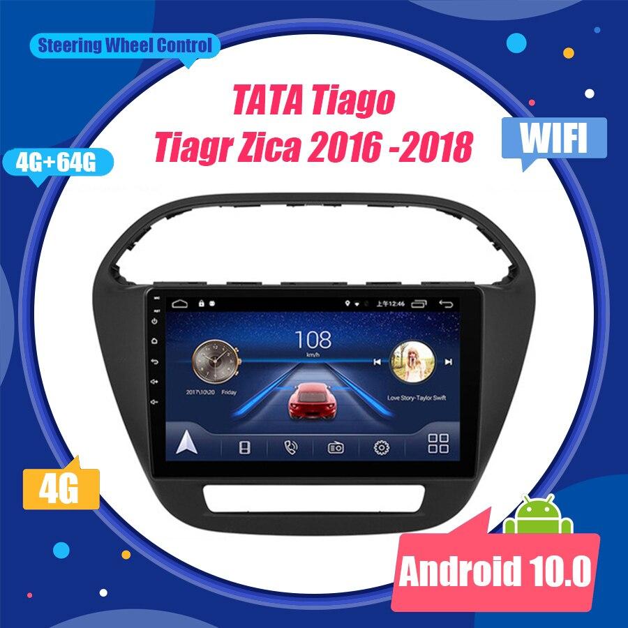 Android 10,0 octa-core unidad principal 4G coche Radio reproductor de vídeo Multimedia navegación GPS para TATA Tiago Tiagr Zica 2016 -2018 ESTÉREO