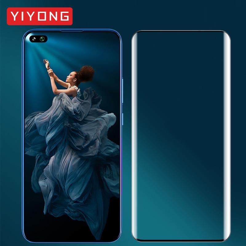Vidrio de cubierta completa YIYONG para Huawei Honor View 30 Pro vidrio templado para Huawei Honor View 20 10 Protector de pantalla Honor V30 V20
