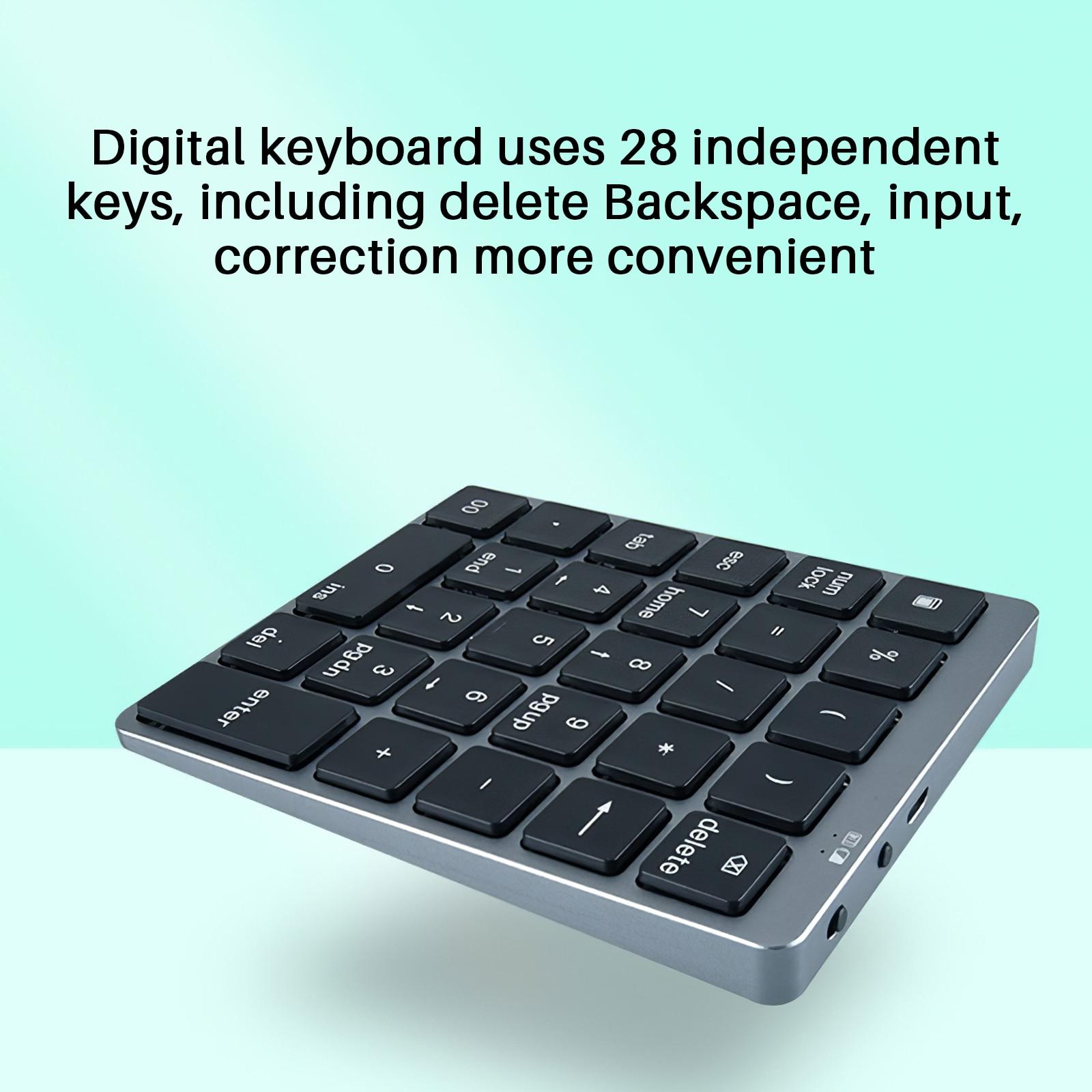 بلوتوث صغير لوحة المفاتيح اللاسلكية باد 28 لوحة المفاتيح اللوحي لوحة المفاتيح القابلة لإعادة الشحن لأجهزة أندرويد اللوحي باد الهاتف الخليوي ...