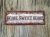 Panneau metallique en etain de Style Vintage  signe de bienvenue a la maison  decoration murale suspendue