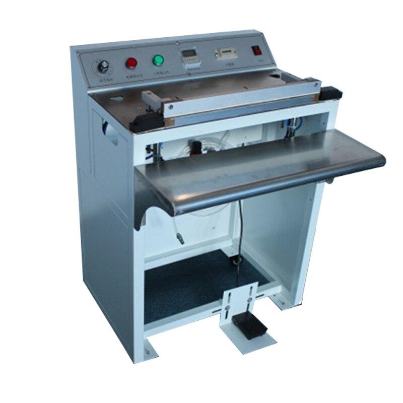 آلة الختم الهوائية التي تعمل بالقدم ، 220 فولت ، أدوات الانكماش التجارية ، علبة الفولاذ المقاوم للصدأ ، معدات الختم المطابقة عالية الكفاءة