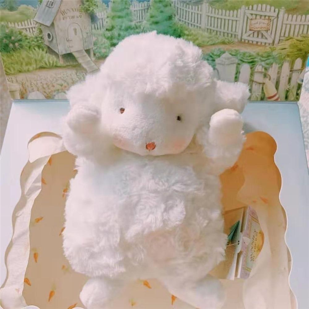 Juguete de Peluche de cordero para niños, Adorable juguete de Peluche de oveja, juguete de oveja para niñas, dulce decoración de corazón, regalo para Cumpleaños de Niños