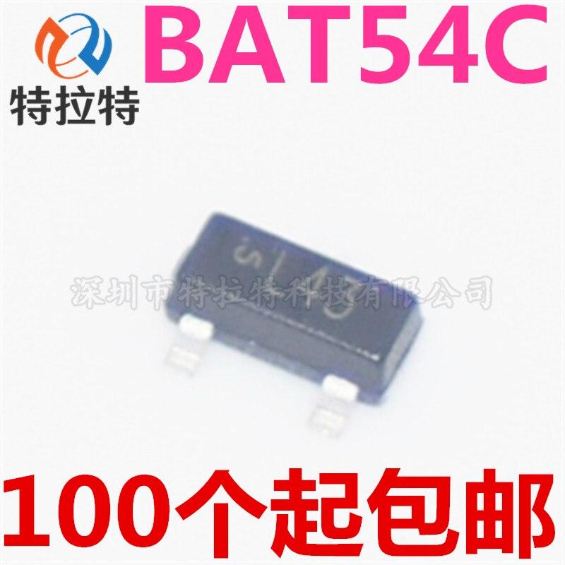 100 stücke BAT54C L43 SOT-23 Schottky Diode 200MA 30V