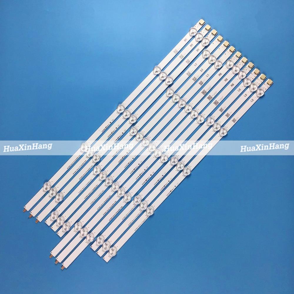 """12 piezas tira de LED para iluminación trasera 10 lámpara para LG 50 """"TV 50LN5400 50LA620V 6916L-1276A 6916L-1273A 6916L-1272A 6916L-1241A 50LN577S"""