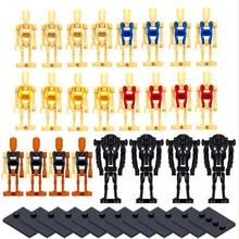 24 unids/set Star Wars Battle Droid K2SO Rouge One bloques de construcción en miniatura, juguete técnico de regalo para niños