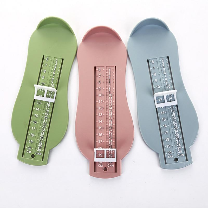 1PC Kids Foot Measuring Gauge Measure Baby Nail Care Infant Plastic Ruler Kids Foot Length Calculato