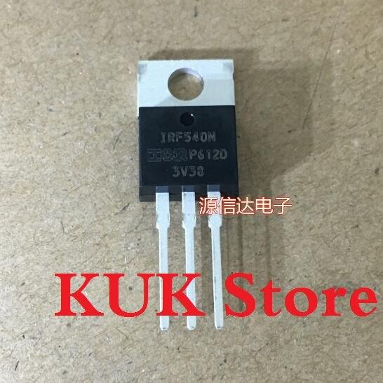 Real Original 100% NOVO IRF540N IRF540NPBF 100V MOSFET PARA-220 50 33A pçs/lote