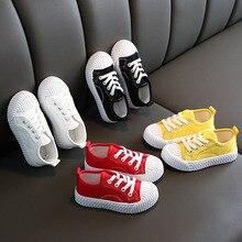 Enfant en bas âge garçons filles jaune rouge blanc décontracté chaussures de sport pour enfants école toile Slip-On Hip Hop danse baskets chaussures nouveau 2020