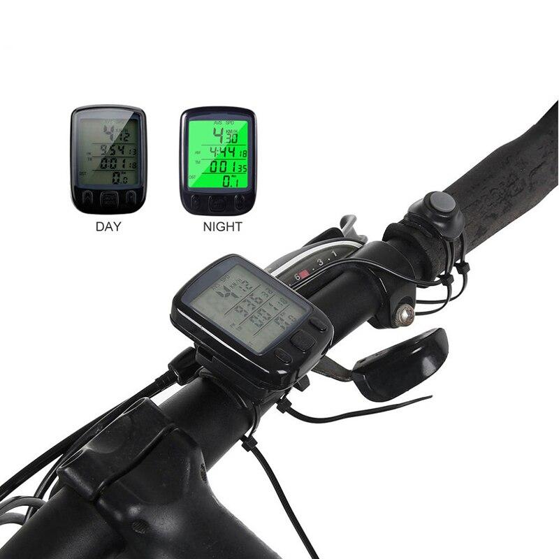 Многофункциональный беспроводной/проводной водонепроницаемый велосипедный секундомер Спидометр Одометр