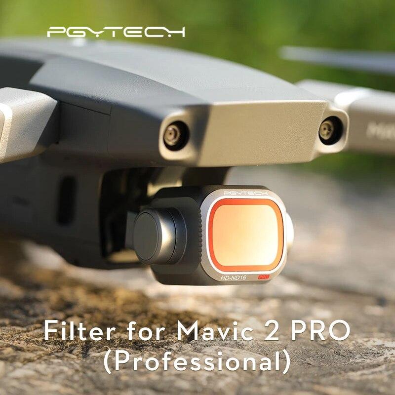 PGYTECH Mavic 2 برو عدسة الكاميرا مجموعة فلاتر ND8/16/32/64-PL ND8/16/32/64 GND8 مرشحات عدة ل DJI Mavic 2 برو تصفية الملحقات