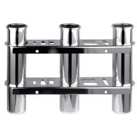 boat accessories marine stainless steel triple fishing rod storage holder rack boat organiser