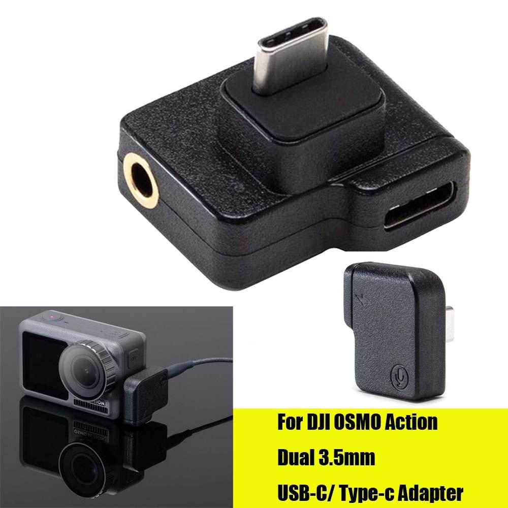 CYNOVA Dual USB-C до 3,5 мм микрофонный адаптер для DJI OSMO Action аксессуары минимальный дизайн более четкий и отличный голос