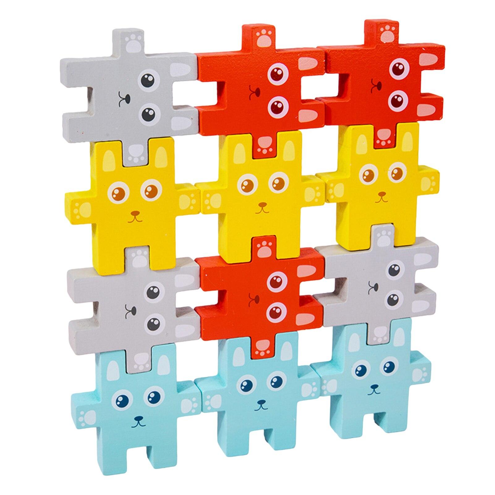 1 Набор Монтессори балансировочная игра деревянные блоки для детей Обучающие игрушки подарок для детей забавные пирамиды строительные бло...