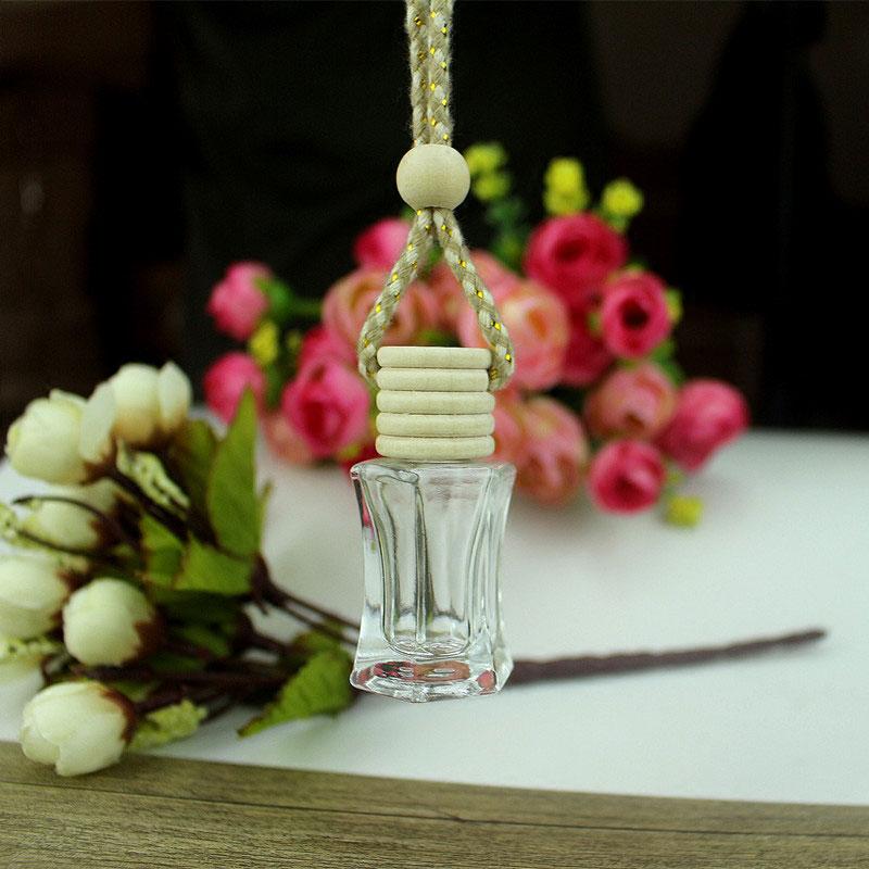Botella de Perfume de automóvil colorida collar de 6ml colgante botella de Perfume de coche vacía colgante de aromaterapia 25 pzas/unids/lote medallón de Aroma