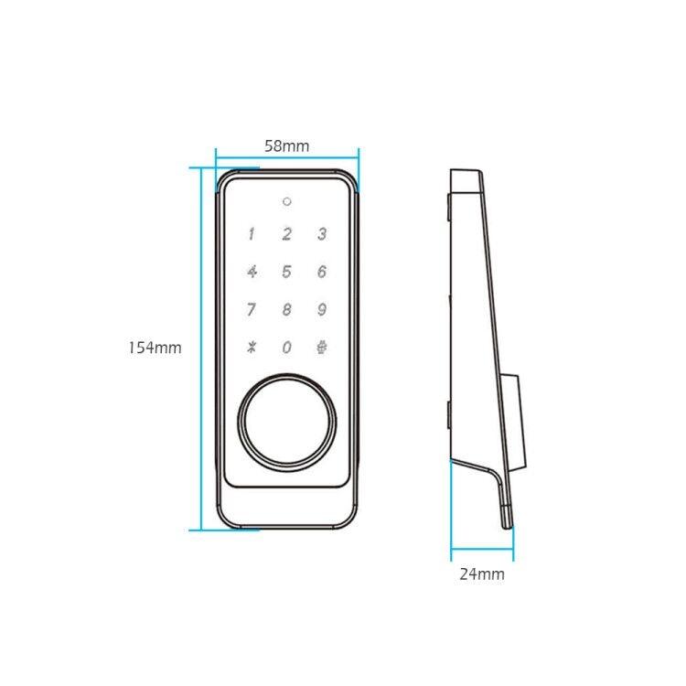 TT lock App Smart Fingerprint Door Lock, Electronic Deadbolt Security Safe Bluetooth RFID Keypad Digital Door Lock