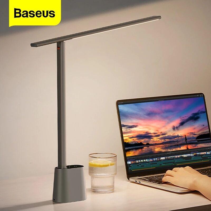 Baseus LED الجدول مصباح الذكية السيارات سطوع غرفة نوم السرير مكتب استوديو دراسة قابلة للشحن ضوء الليل العين حماية لمبة مكتب