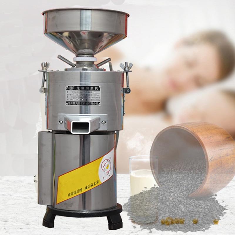 صلصة السمسم الكهربائية التجارية ، مطحنة زبدة الفول السوداني ، طاحونة أوتوماتيكية منزلية صغيرة ، التكرير