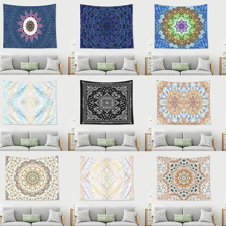Bohemia Hanging Fabric Background Wall Covering Home Decoration Wall Blanket Tapestry Bedroom Wall Hanging Boho Decor 1ps bohemia mandala blankets tapestry elephant wall hanging wandbehang gobelin blanket dorm home decor mantas mandalas