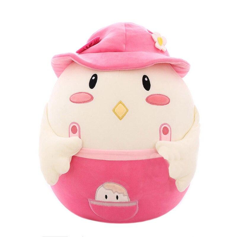 Pequeña figurita de pollo grande pollo graso pollito lindo juguete de felpa almohada hogar dormitorio MYDING