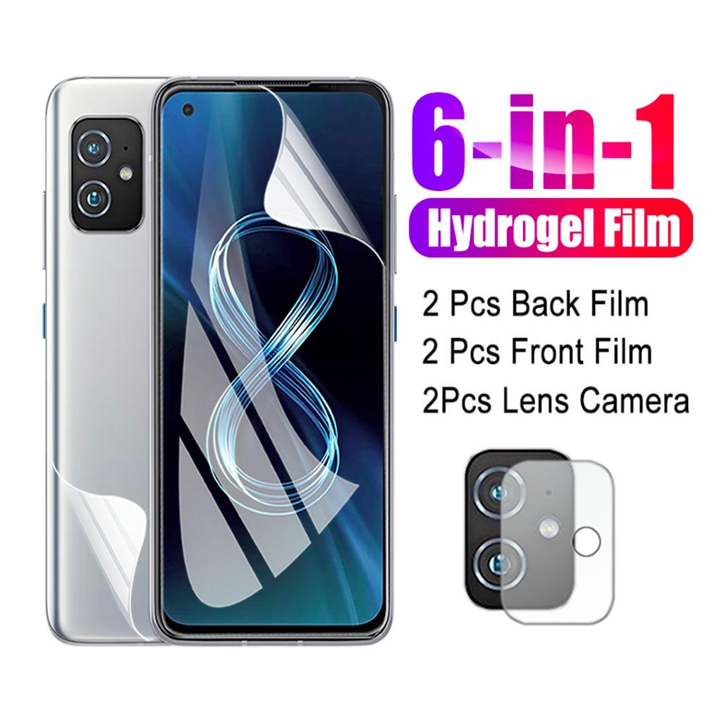 Película de hidrogel 6 en 1 para Asus Zenfone 8, cristal de...