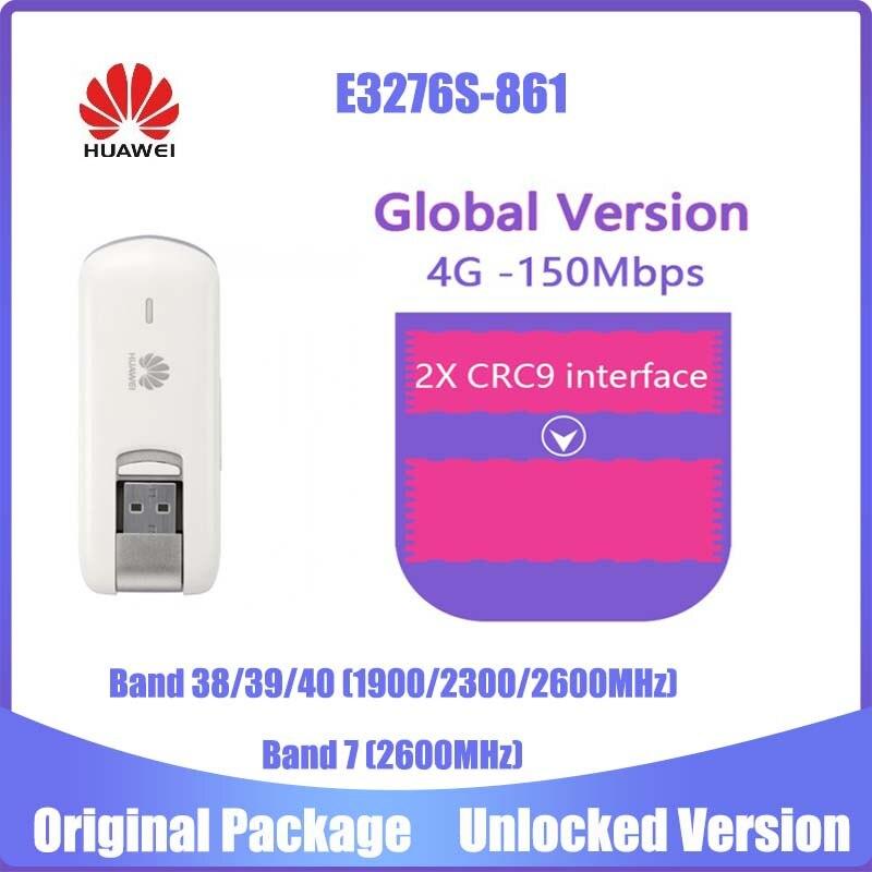 Unlocked Huawei E3276s-861 LTE FDD2600 TDD1900/2300/2600Mhz(4g Bands 38/39/40 Band 7) HSPA+ 900/2100Mhz Wireless USB Modem