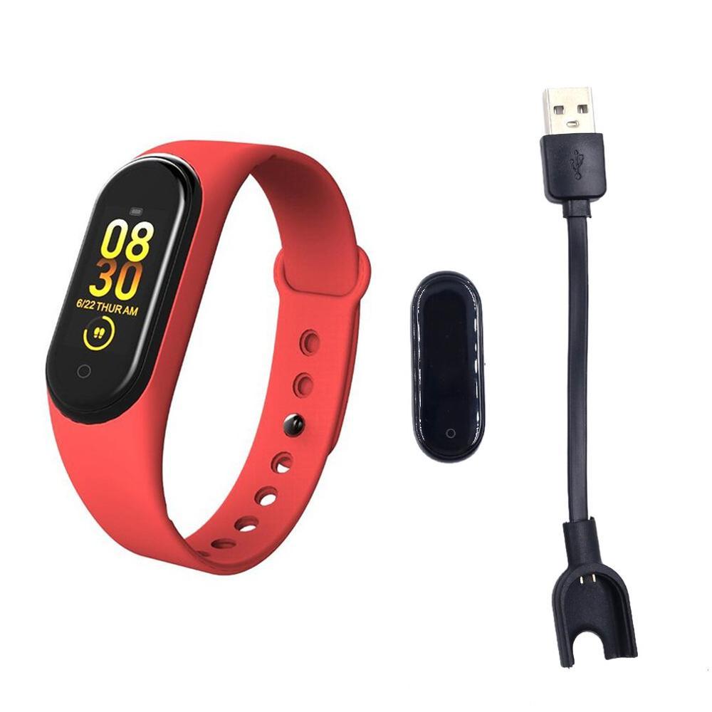 Fitness M4 deporte pulsera podómetro ritmo cardíaco presión arterial Bluetooth salud inalámbrica impermeable