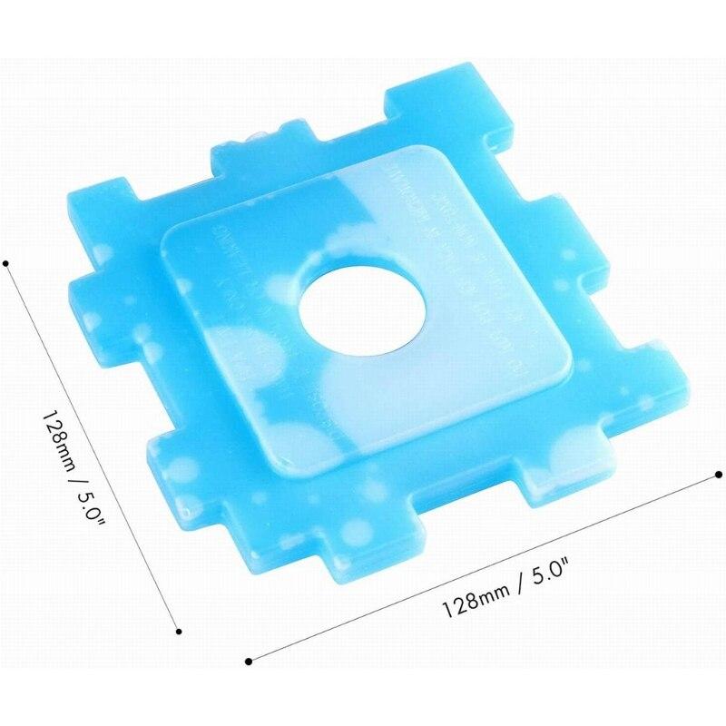 6/10 blocos de gelo magros dos pces refrigerador refrigerando rápido reusável do congelador para o piquenique da caixa de almoço