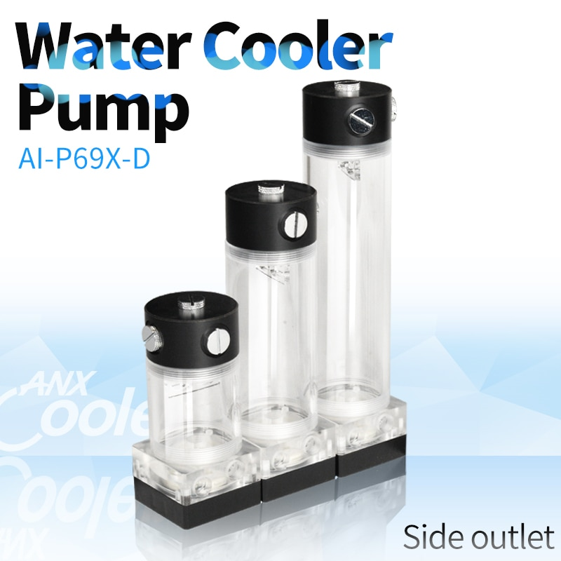 Syscooling P69X-D مياه التبريد مضخة المياه خزان هادئة كومبو PWM دعم للكمبيوتر مياه التبريد