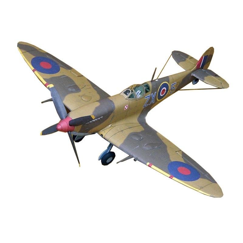 34*28 см Spitfire Fighter Второй мировой войны самолет DIY 3D бумажная карточка модель Конструкторы строительные игрушки Военная Модель 1:33