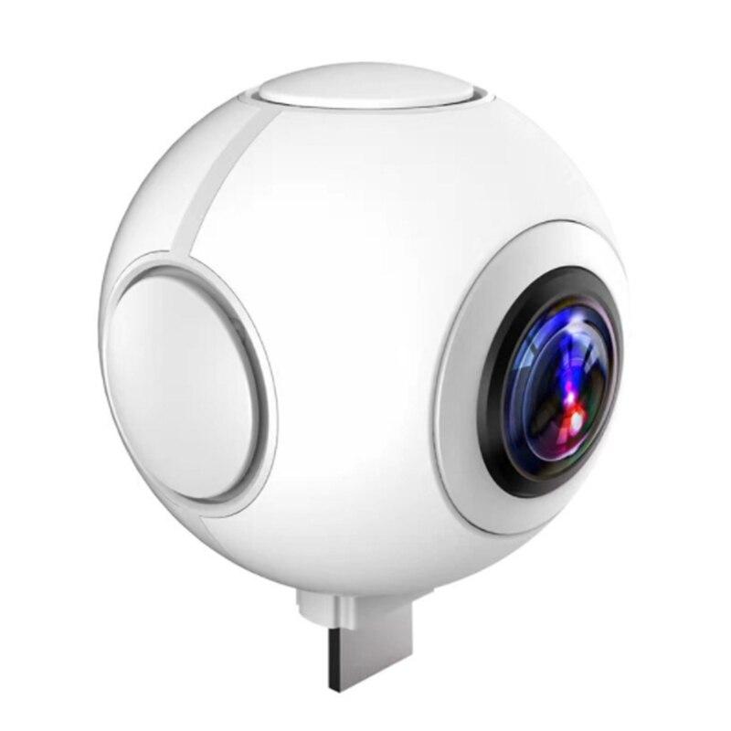 360-Degree Panoramic Camera 720-Degree High-Definition Fisheye Dual-Lens Mobile Phone VR Sports Camera Selfie 1080P 2MP