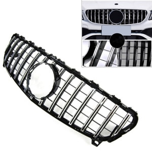 GTR Style Car Front Radiator Upper Grille Mesh Grill ABS For Mercedes Benz Facelift A class W176 A200 A250 A45 2016 2017 2018