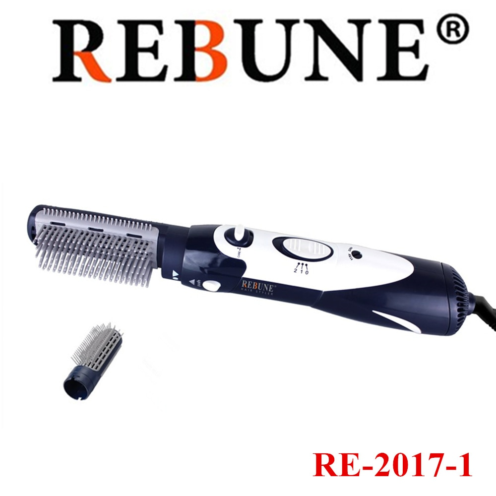 Rebune 110 v-220 v modelador de cabelo multifuncional secador de cabelo novo estilo ferramentas poderoso escova de cabelo rolo styler
