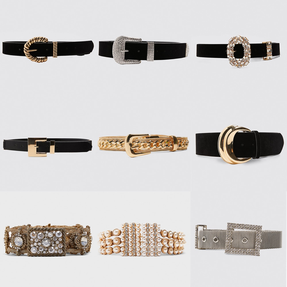 Girlgo 2019 Luxury Brand Za Pearl Belts For Women Charm Crystal Maxi Buckle Statement Belts Female Romantic Waist Party Jewelry