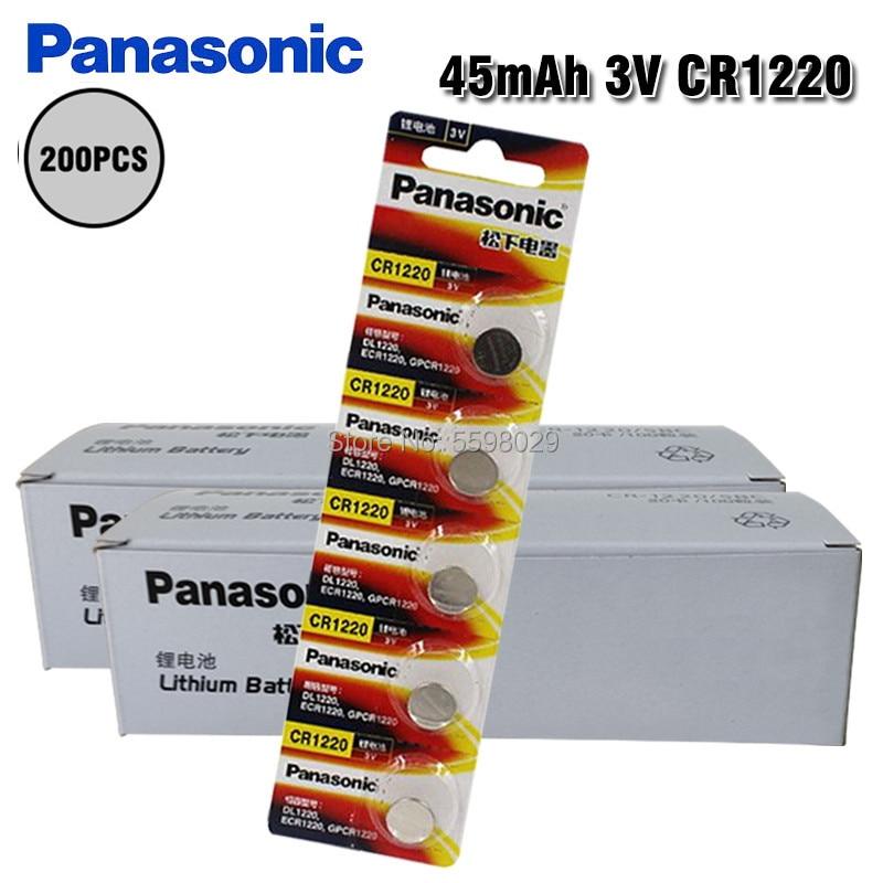 200 قطعة بطاريات ليثيوم باناسونيك CR1220 BR1220 DL1220 ECR1220 LM1220 3 فولت زر خلية عملة البطارية ل LED أضواء اللعب الساعات
