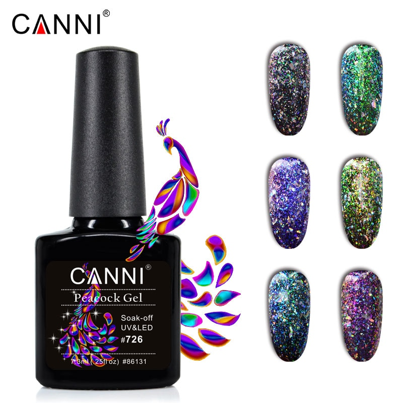 Гель-лак CANNI для ногтей, блестки для ногтей, стойкая черная основа, Звездные блестки для ногтей