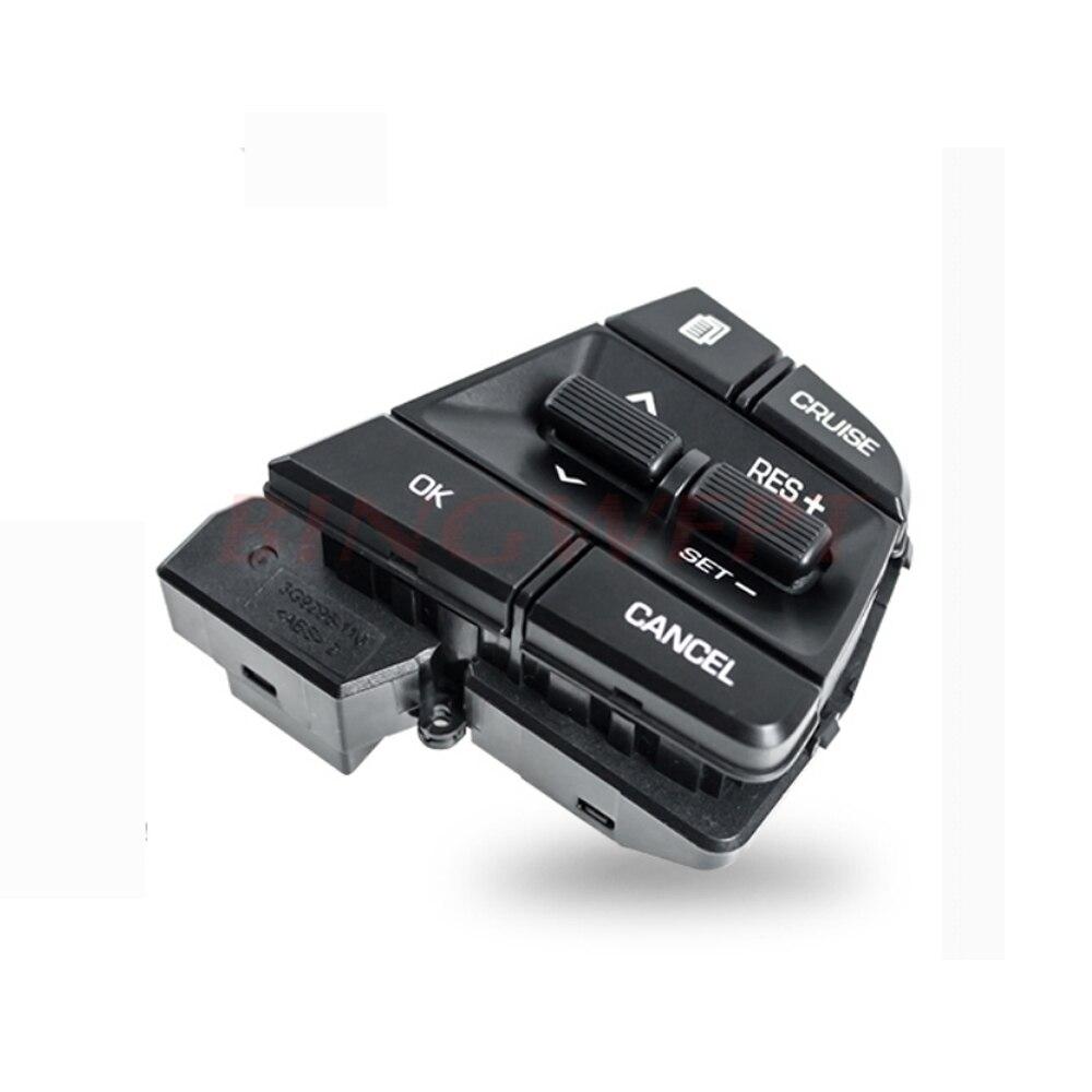 Bingwfp para hyundai colar móvel solaris elantra1.6l controle de cruzeiro multifunções volante botão interruptor acessórios do carro